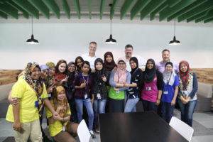 Mahoney with team for the opening of the Penang Malaysia facility.