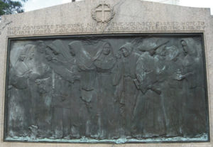 Nuns of the battlefield bas relief by Jerome Connor.