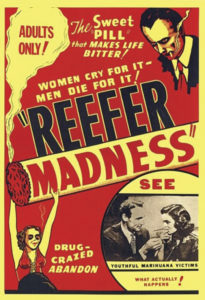 Poster advertising Reefer Madness.