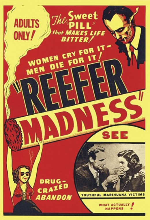 <em>Poster advertising</em> Reefer Madness.
