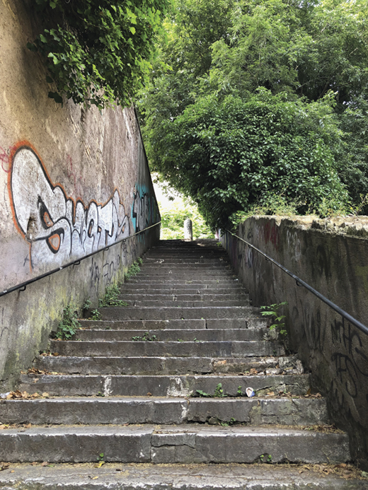 <em>Steps from Trastevere toward the Church of San Pietro in Montorio.</em>