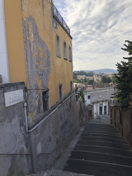 <em>Steps toward the Church of San Pietro.</em>