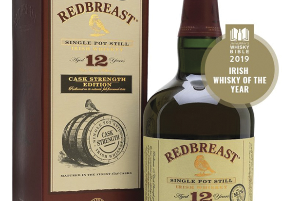 Redbreast Aged 12 year Cask Strength, Jim Murray's 2019 Irish Whisky of the Year.