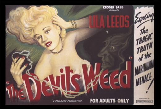 <em>Movie poster for </em>The Devil's Weed<em> (1949).</em>