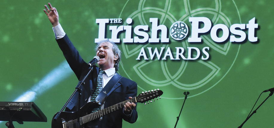Chris de Burgh performing at the Irish Post Awards.