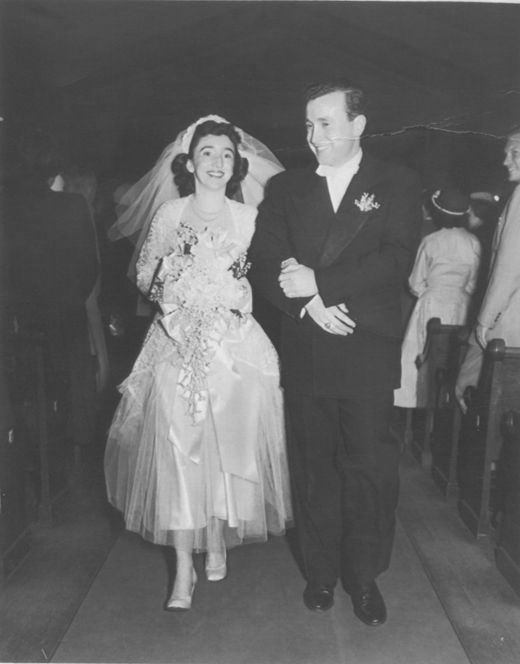 <em>The author's grandparents on their wedding day.</em>