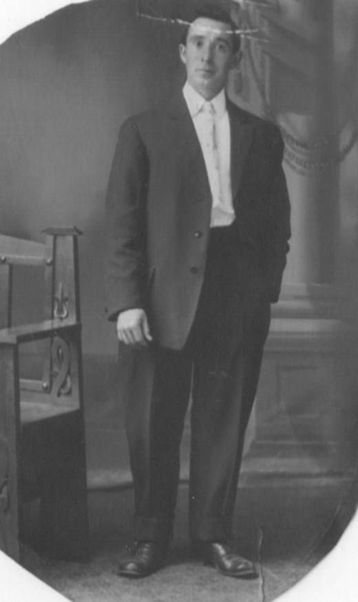 <em>Frank Duffy in his Sunday best.</em>