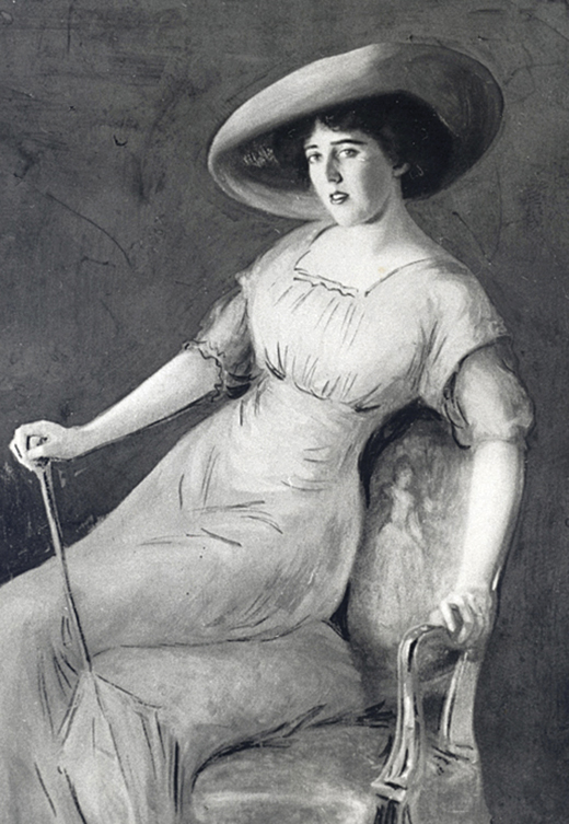 <em>John Trullinger painted this oil portrait of Louise Bryant, the wife of his cousin Paul Trullinger, in 1913.</em>