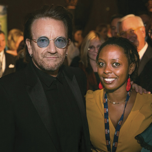 <em>Bono and Aline Joyce Berabose.</em>