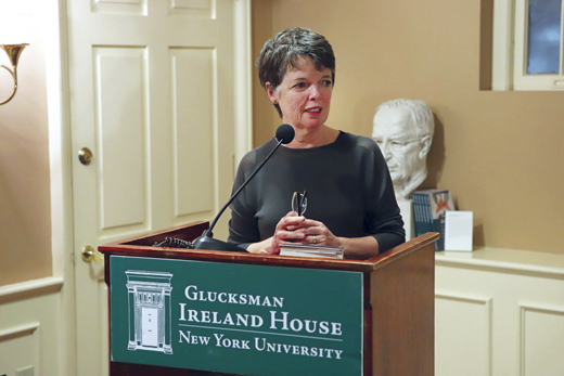 <em>Alice McDermott speaking at G.I.H.</em>