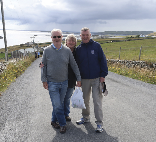 <em>Michael T. Clune and his family on Inishbofin.</em>
