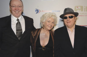 With Fionnula Flanagan, who starred in Some Mother's Son, and Belfast's legendary musician, Van Morrison, in 2007.