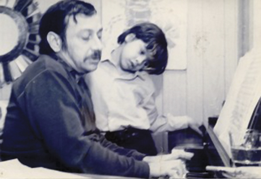 With his father, Chico, when Arturo was 6.