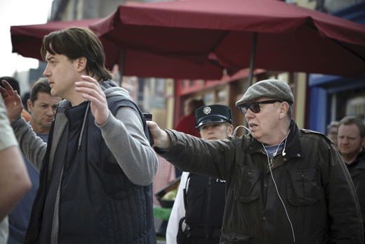 <em>Terry directing Brendan Fraser in </em>Whole Lotta Sole<em> (2012).</em>
