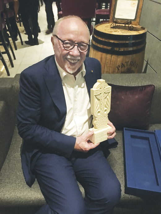 <em>The Armenian National Committee of America named Terry Man of the Year in 2018. The cross (a typical Armenian cross) is the national symbol.</em>