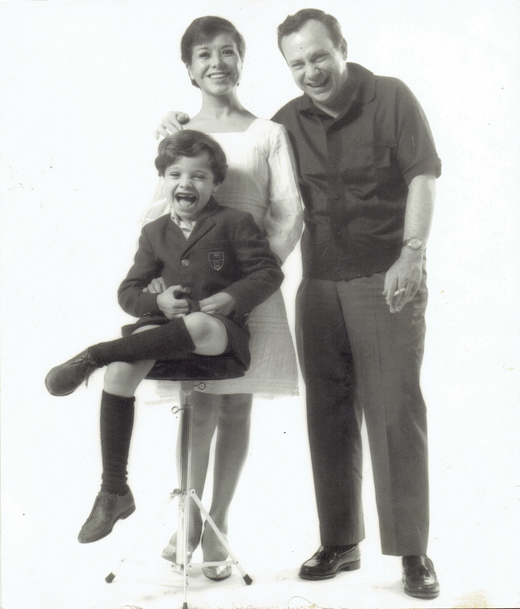 Lupe O'Farrill, Chico O'Farrill (Arturo's parents), and little Arturito!