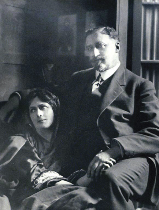 <em>Isadora with Paris Singer.</em>