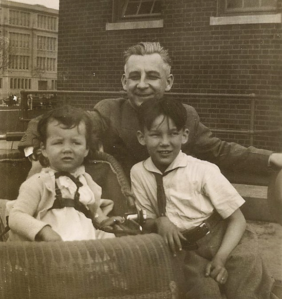 Patrick Killen with his daughter, Margaret, and son, Joseph Patrick, 1934.