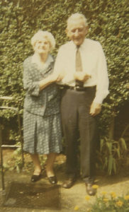 Patrick and his sister, Mary McAllister, meet up in England after 57 years, 1970.