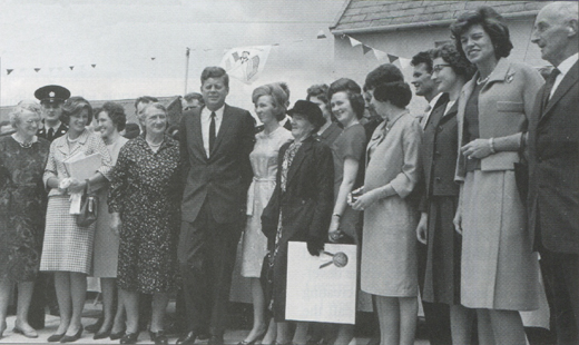 <em>JFK and family members in Ireland in June 1963.</em>