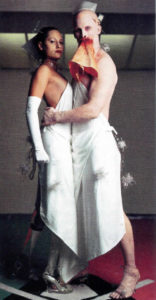 Aimee Mullins and Matthew Barney in The Cremaster Cycle.