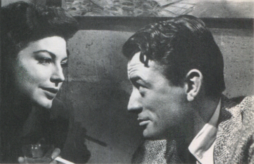 <em>Ava Gardner and Gregory Peck in <strong>The Snows of Kilimanjaro</strong>.</em>