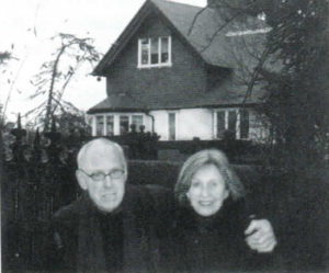 Barney Rosset and Astrid Myers at Foxrock, Beckett's birthplace.