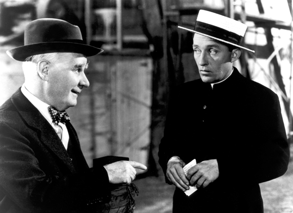 <em>Bing Crosby with Henry Travers in <strong>The Bells of St. Mary's</strong>.</em>
