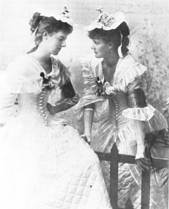 <em>Eva and Constance Gore .</em>