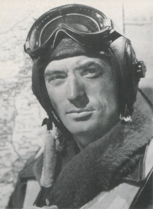 <em>Gregory Peck in <strong>12 O'Clock High</strong>.</em>