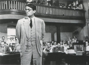 Gregory Peck in his Oscar winning role as Atticus Finch in To Kill a Mockingbird.