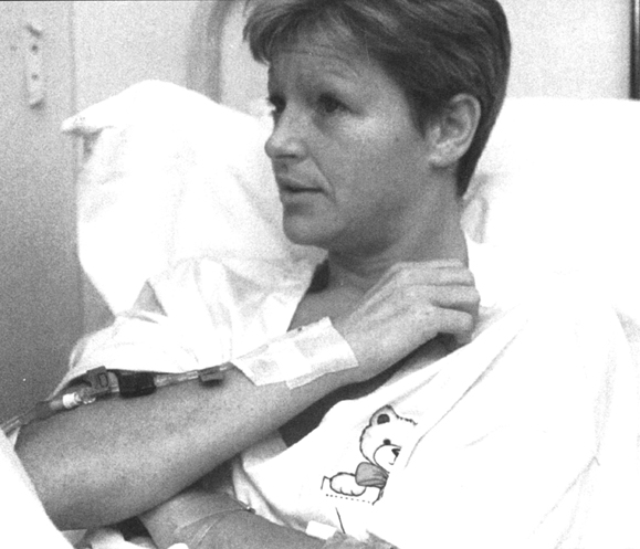 <em>Guerin recovering from a gunshot wound.</em>
