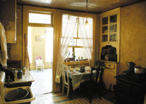 Inside the Tenement Museum.