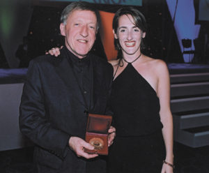 Paddy with his daughter, Aedin Welch.