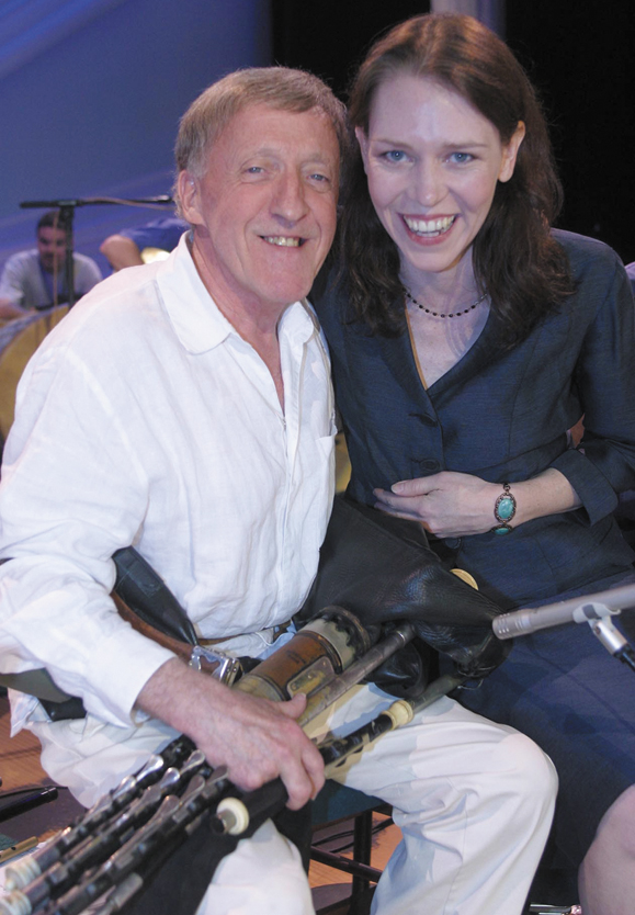 <em>Daughter, Gillian Welsh and Paddy Maloney - Photo by Ralav Sergev.</em>