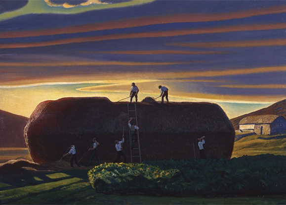 """Dan Ward's Stack"" by Rockwell Kent. Courtesy of the Hermitage Museum, St. Petersburg, Russia."