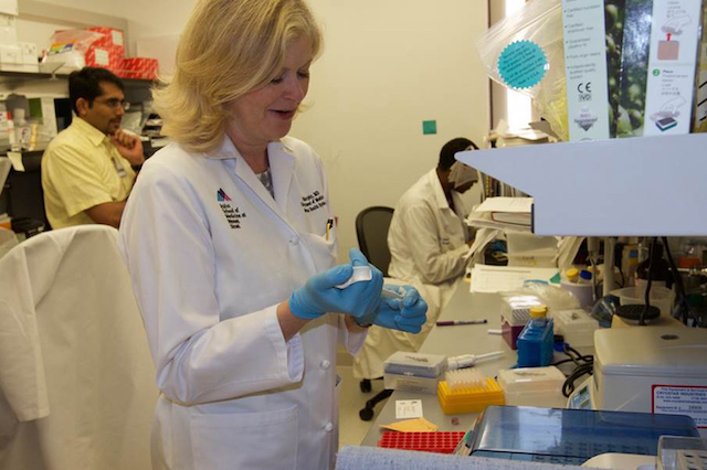 Dr. Barbara Murphy in the lab